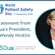 A Message from ISQua President, Ms Wendy Nicklin