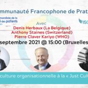 Webinaire en français: De la culture organisationnelle à la « Just Culture » WPSD 2021