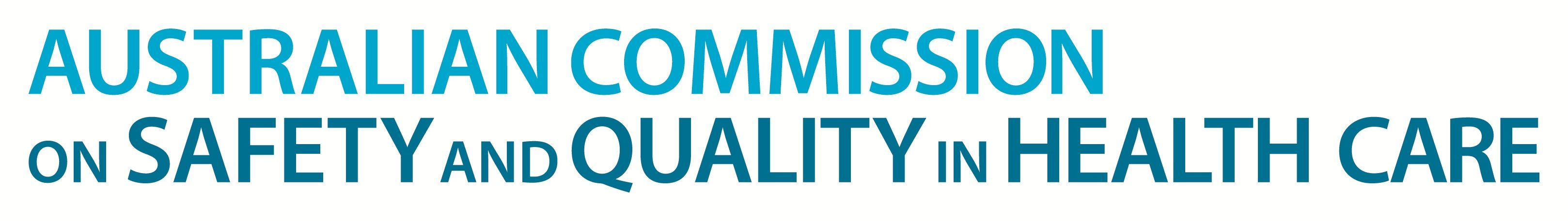 Australian Commission on safety and quality in health care Logo