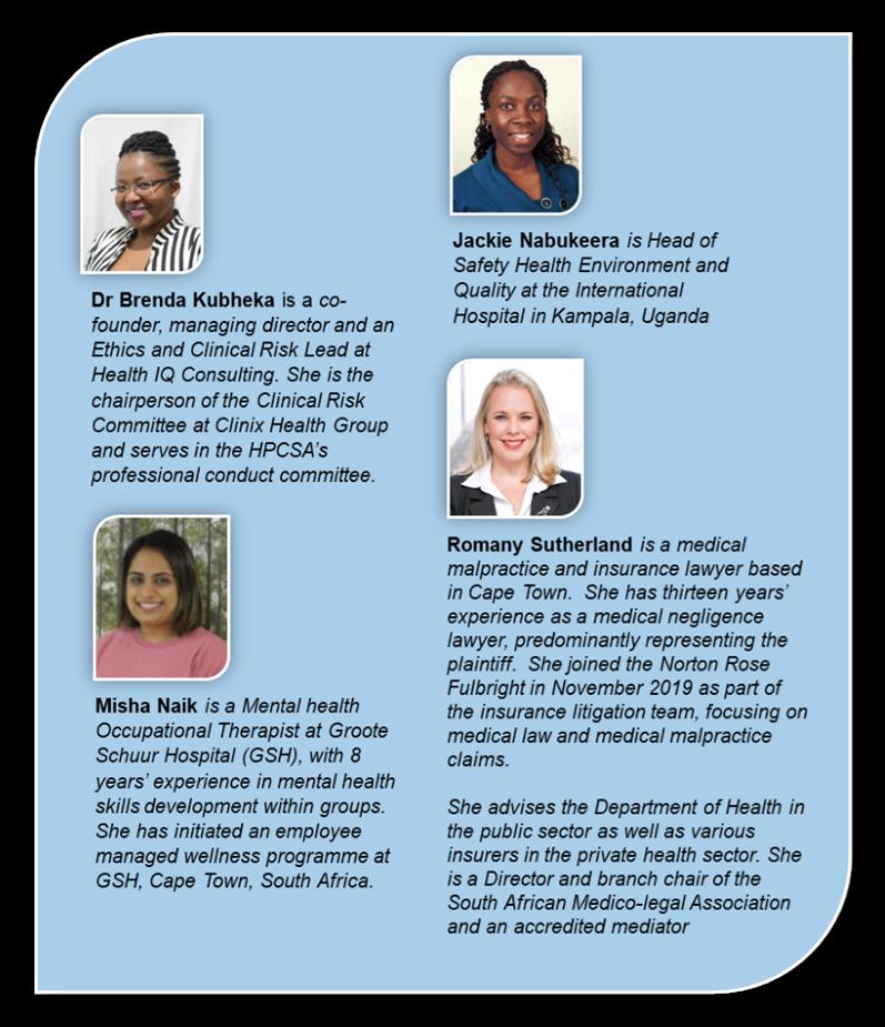 COHSASA 29th Sept Speakers