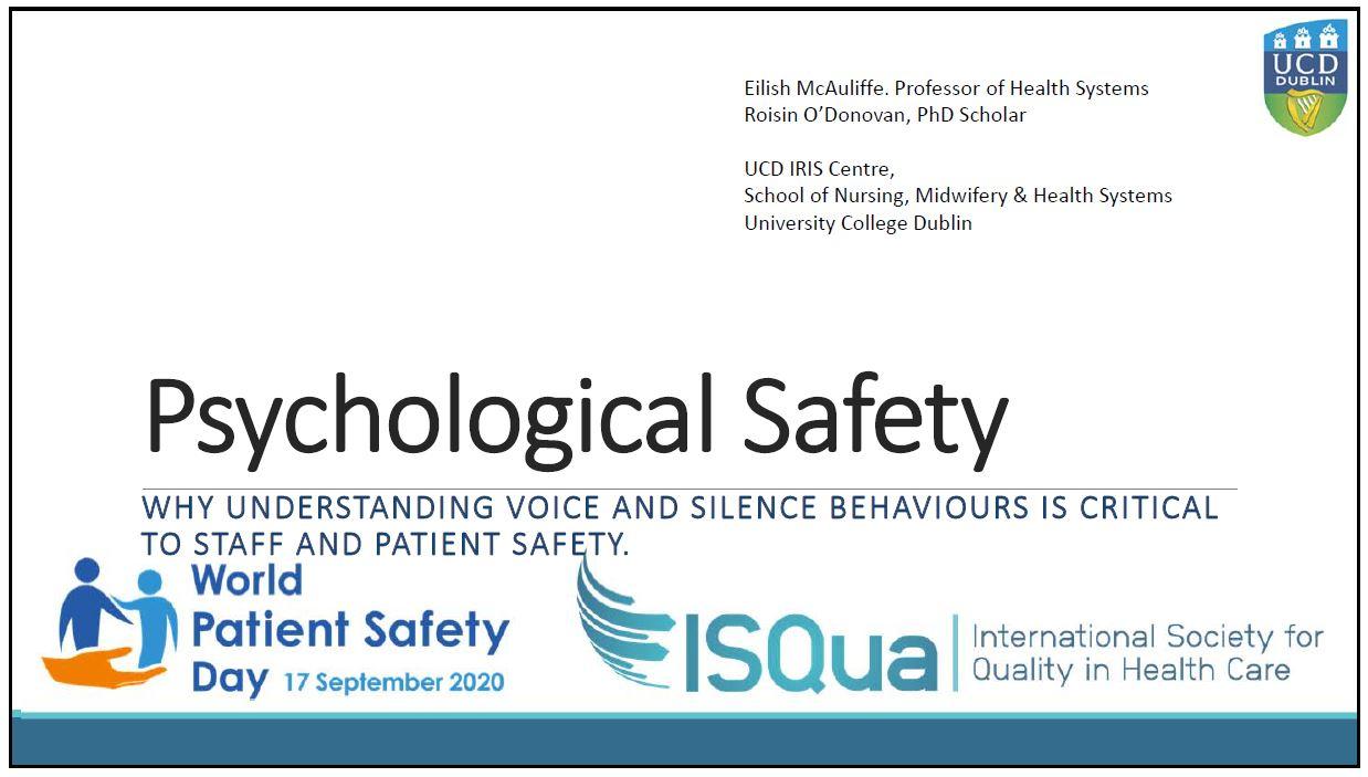 Psychological Safety Webinar Slides