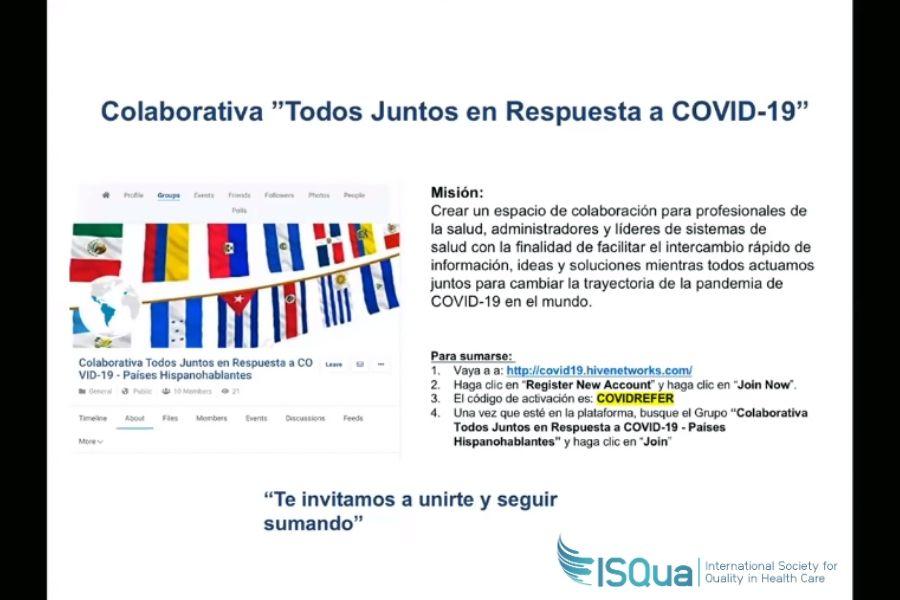 COVID-19: ISQua Comunidad Latinoamericana de Práctica se ejecuta en asociación con el Consorcio Latinoamericano de Calidad y Seguridad en Salud