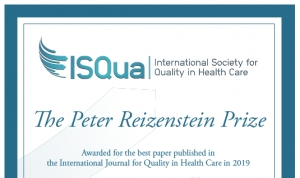 Reizenstein Award for Best Paper Published in the International Journal for Quality in Health Care (IJQHC) in 2019