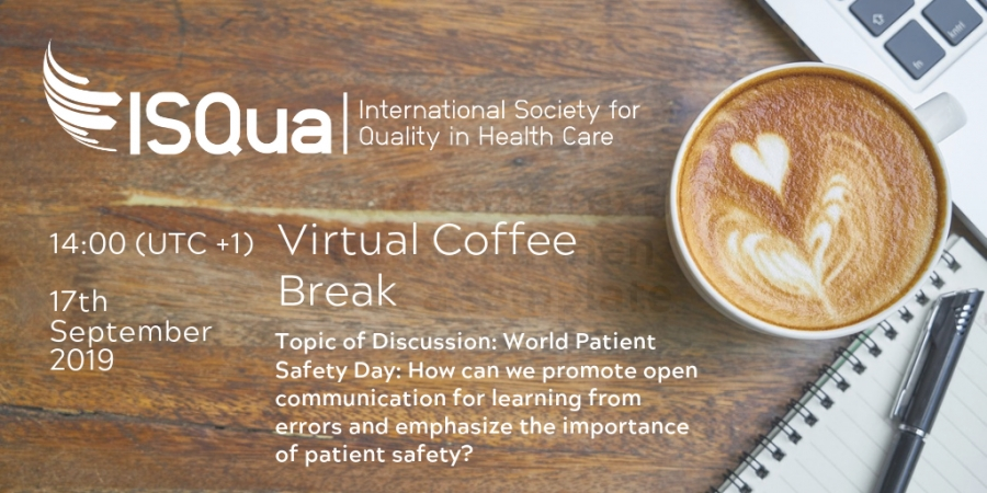 World Patient Safety Day 2019 - Virtual Coffee Break