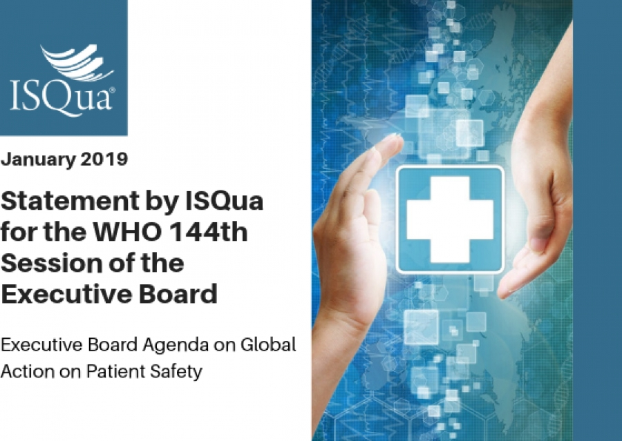 ISQua's Statement on 'Global action on Patient Safety' for the 144th Session of the WHO Executive Board