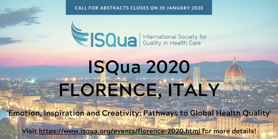 Join ISQua in Florence, Italy for #ISQua2020