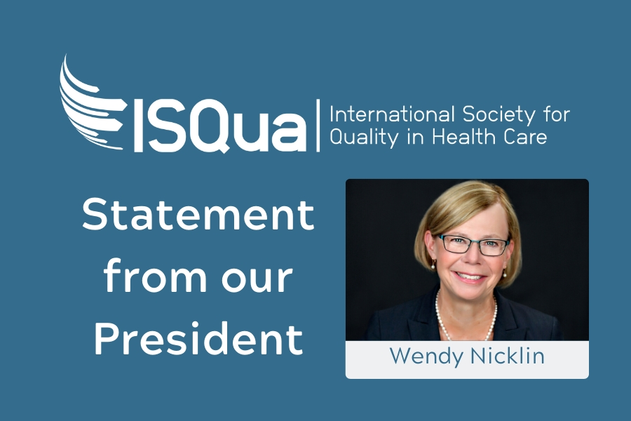 Together we are stronger - Statement from ISQua's President