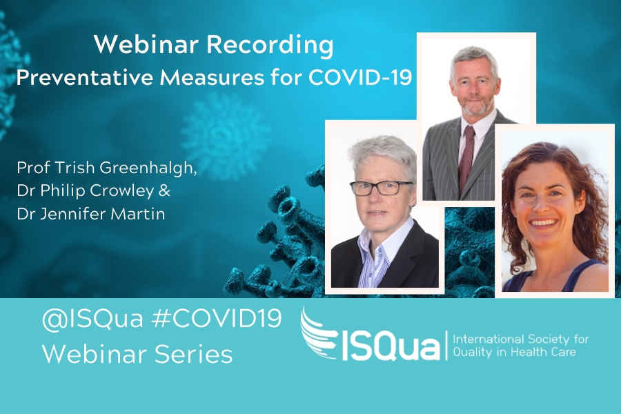Recorded Webinar: Preventative Measures for COVID-19