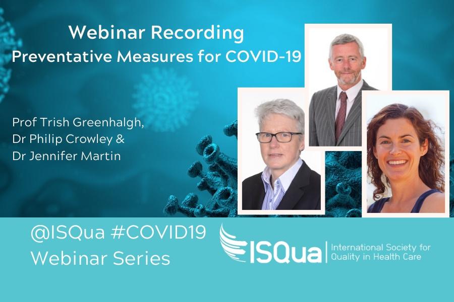 Recorded Webinar: Preventative Measures for COVID-19