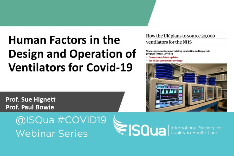 Recorded Webinar: Human Factors in the Design and Operation of Ventilators for COVID-19