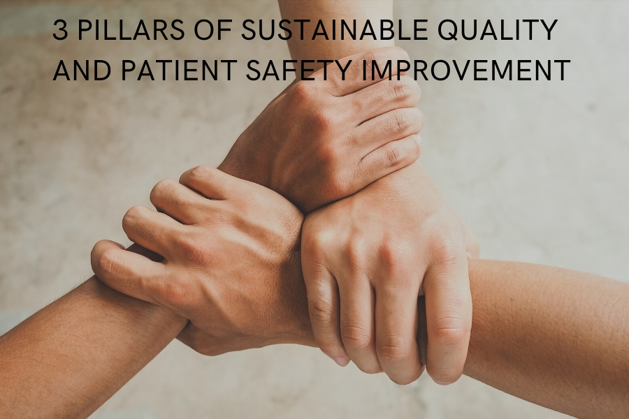 3 PILLARS OF SUSTAINABLE QUALITY AND PATIENT SAFETY IMPROVEMENT