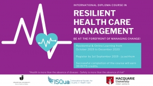 Resilient Health Care Management