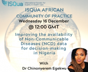 Watch the Recording: Improving the availability of Non-Communicable Diseases (NCD) data for decision-making in Nigeria