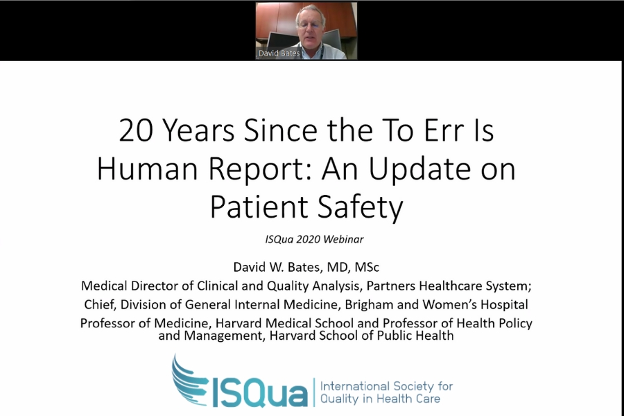 Recorded webinar on Patient Safety with Dr David Bates