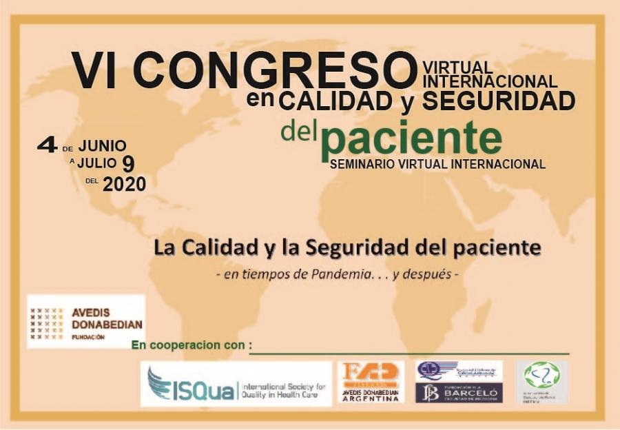 VI Congreso y Seminario Virtual Internacional en Calidad y Seguridad del Paciente